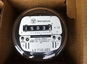 Westinghouse Electric Watthour Meter kwh Ez Read cyclone 240v 200 Amps 3w