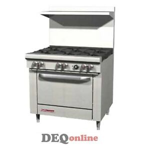 Southbend S36d 36 Gas Range W Standard Oven 6 Open Burners