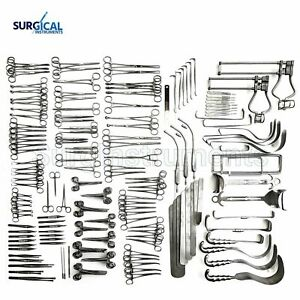 197 Pcs Laparotomy Set Surgical Medical Instruments Lot