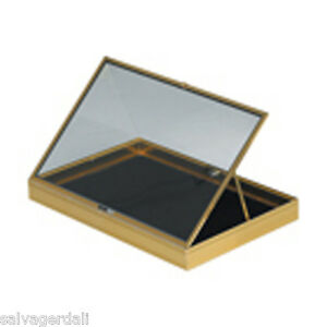 Portable Aluminum Glass Display Black Or Silver Showcase Quality Usa Made New