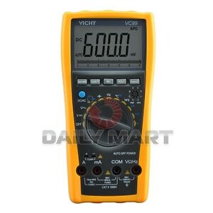 Vichy New Vc99 3 6 7 Lcd Auto Range Dmm Digital Multimeter Analog Bar Volt Test