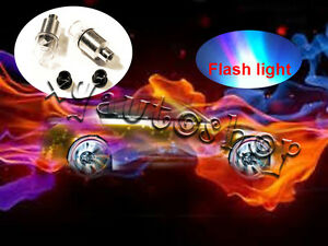 4 Car Wheel Tyre Valve Caps Flash Glow Led Neon Light Us Shipper New