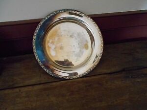 8 3 4 Silver Plated Tray Marked Meadow Brook Wm A Rogers