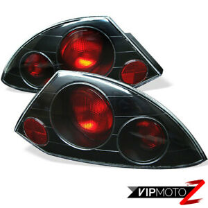 For 00 02 Mitsubishi Eclipse Gt Rs Spyder Black Jdm Signal Stop Tail Light Lamps