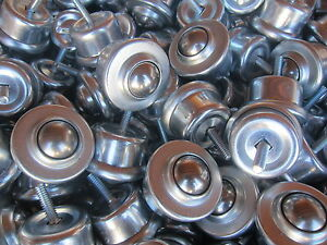 20pcs Conveyor Steel Ball Transfer Bearing roller Ball Stud mount 1 Ball