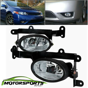 For 2006 2007 2008 Honda Civic 2dr Coupe Clear Fog Lights Pair W Switch Harness