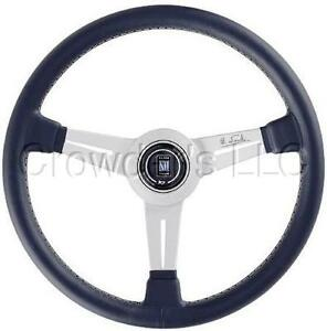 Nardi Classic Steering Wheel 330 Mm Black Leather Anodized White Spokes