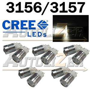10pcs 3156 3157 T25 Cree High Power 5w Led Back Up Reverse Lights Bright White