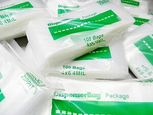 1000 Ziplock Bag 4 x6 Clear Poly 4 Mil Reclosable 4x6 Thick Bags 4mil Zip Lock
