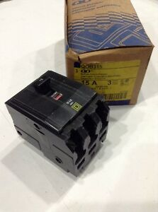 Square D Qob315 Circuit Breaker 3 P 15a 240v New box Of 3