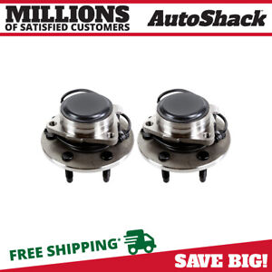 New Pair Of 2 Front Hub Wheel Bearing Assembly Set Fits Cadillac Chevrolet Gmc