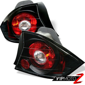 2001 2003 Honda Civic 2dr Jdm Black Tail Lights Brake Lamp Lh Rh Pair Assembly