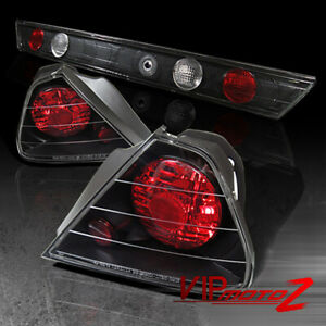 98 2002 Honda Accord 2dr Black Tail Light Trunk Inner Signal Backup Lamp Garnish