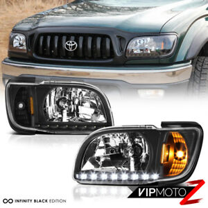 Black 1pc Led Headlight L R For 2001 2004 Toyota Tacoma 2wd 4wd Trd S Pre Runner