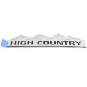 Oem New Fender Tailgate High Country Emblem Nameplate 14 19 Silverado 22813987