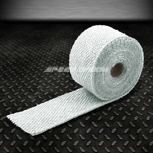 15ft 180 l 2 w Header Intake Turbo Exhaust Insulating Chrome White Heat Wrap