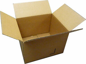 Bundle Of 50 16x12x6 New Packing Shipping Boxes Cartons Box Shoe Kraft Moving