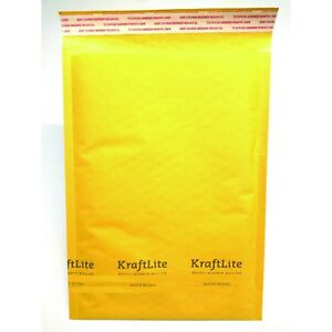 50 Count 6 12 5x19 Kraft Bubble Mailers Padded Envelopes Bags Eco lite