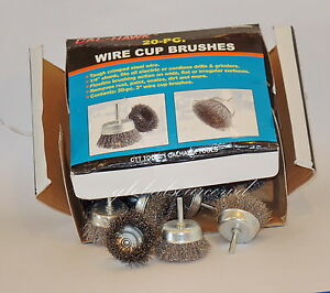 20pc 3 Calhawk Wire Cup Brush Set Steel Wire Wheel Brushes For Drills