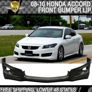 Fits Honda Accord 2dr Pu Front Bumper Lip Hfp Style Poly Urethane 2008 2009 2010
