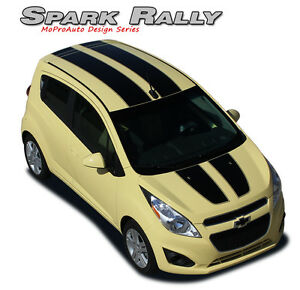 Chevy Spark 2013 2016 Rally Hood Roof Racing Stripes Vinyl Graphics Pro 3m Decal