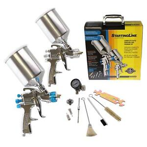 Devilbiss 802343 Hvlp Paint Gun Kit For Primer Color Clear Coat Application