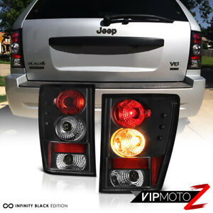 For 2005 2006 Jeep Grand Cherokee Sport Left right Black Altezza Tail Light Lamp