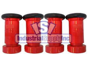 Fire Hose Nozzle 1 1 2 National Standard Thread Nst Polycarbonate 4 Pack