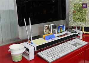 Istick Multi Dispenser Office Multi function Desk Organizer White
