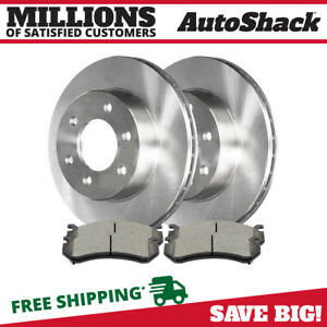 Front Rotors And Ceramic Pads For 1999 2006 Chevrolet Silverado Gmc Sierra 1500