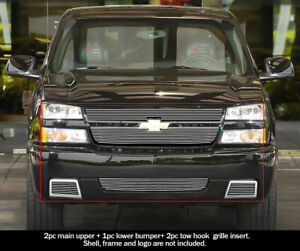 For 2006 Chevy Silverado 1500 Ss Billet Premium Grille Combo Insert