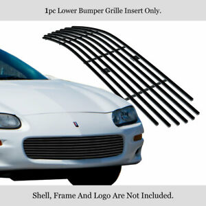Customized For 1998 2003 Chevy Camaro Black Billet Premium Grille Insert
