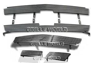 For 2003 2005 Chevy Silverado 1500 Ss Billet Premium Grille Combo Insert