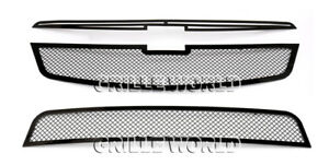 For 2011 2013 Chevy Cruze Black Stainless Steel Mesh Premium Grille Combo