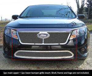 For 2010 2012 Ford Fusion Mesh Premium Grille Combo Insert