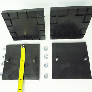Challenger Lift Square Rubber Lift Pad Cl9 Cl10 Set Of 4 Pads And Hardware