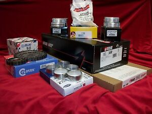 Chevy 350 Performer Engine Kit Dish Top Pistons Moly Rings Timing Bearings 81 85