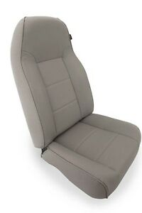 Gray Standard Front Seat For Jeep Cj Wrangler Yj Tj 76 02 13401 09 Rugged Ridge
