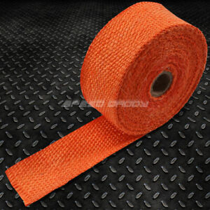 7 5m 25 Feet 2 Width Exhaust Manifold Header Down Pipe Piping Orange Heat Wrap