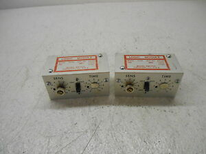 Micro Switch Tr3 Tr Logic Module 15 Vac 12 Vdc Lot Of 2 Used