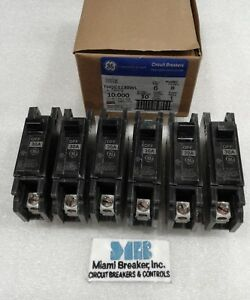 Thqc1130wl Ge New Circuit Breaker 1 Pole 30 Amp 240v box Of 6