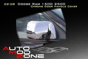 02 08 Dodge Ram 1500 2500 Chrome Side View Full Mirror Covers Cover Set
