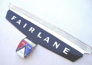 57 1957 Ford Fairlane Chrome Trunk Vee Plastic Crest Only New