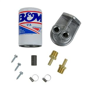 B m 80277 Remote Transmission Filter Kit Converts To External Spin On Filter