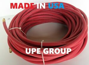 New Air Compressor 3 8 Rubber Hose Made In Usa 50 Ft X 1 4 Male Npt 200 Psi