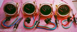2 52mm Electrical Oil Pressure Temperature Volt Fuel Gauge chrome Bezel