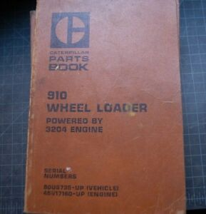 Cat Caterpillar 910 Wheel Loader Parts Manual Book List Catalog Spare Pay Shop