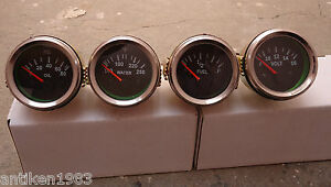 2 52mm Electrical Oil Pressure Temperature Volt Fuel Gauge black Chrome
