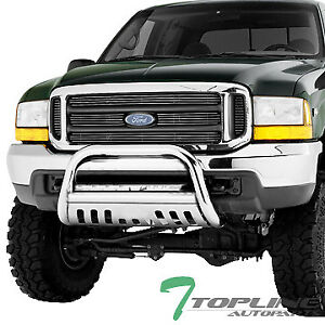 Topline For 1999 2004 F250 F350 Bull Bar Bumper Grill Grille Guard Stainless
