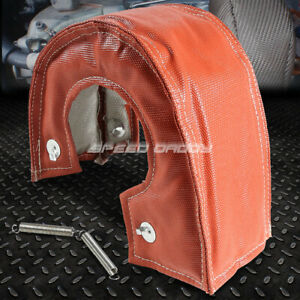 T6 Ht60 Gt40 Turbo Turbocharger Exhaust Red Heat Shield Blanket Cover Wrap